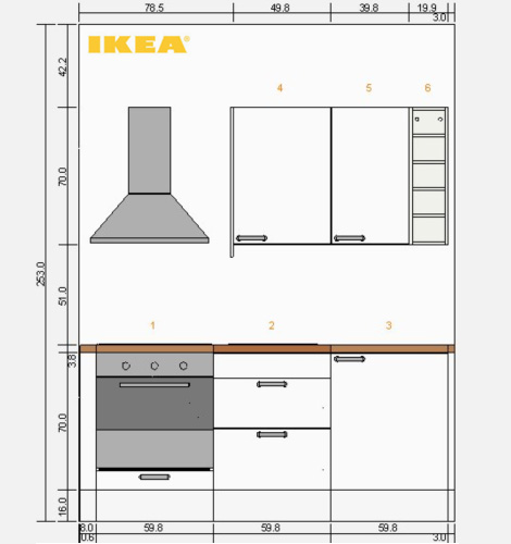 ikea k chen unterschrank ma e. Black Bedroom Furniture Sets. Home Design Ideas
