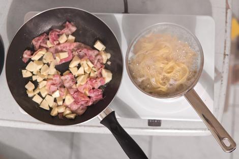 Jamie Oliver pastinaken-pancetta-tagliatelle mit parmesan und butter