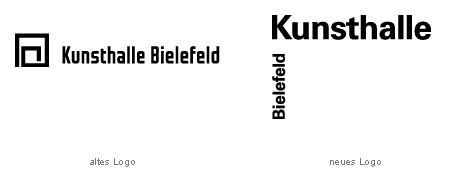 Kunsthalle Bielefeld Logo  vorher nachher alt neu