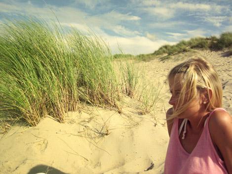 Dani am Strand in Schouwen-Duiveland