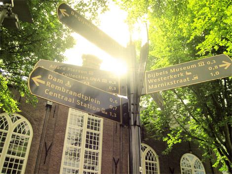 Wegweiser in Amsterdam