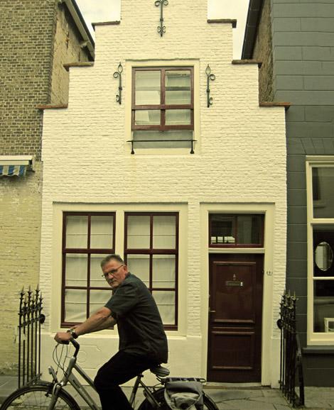 Zierikzee Mann auf Fahrrad