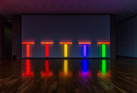 Dan Flavin Kunsthalle Bielefeld Lichtinstallation