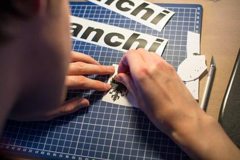 Bianchi Schriftzüge