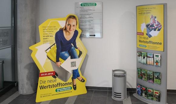 Aufsteller, Die neue Wertstofftonne, Umweltbetrieb Bielefeld