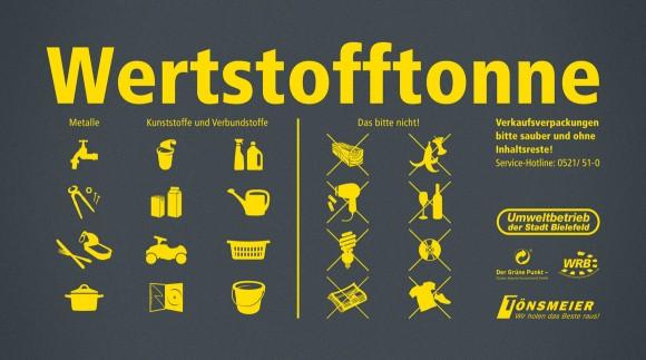 Icons, Die neue Wertstofftonne, Umweltbetrieb Bielefeld