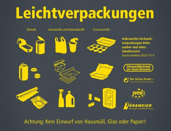 Leichtverpackungen, Die neue Wertstofftonne, Umweltbetrieb Bielefeld