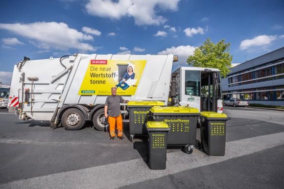 Müllwagen + Tonnen, Die neue Wertstofftonne, Umweltbetrieb Bielefeld