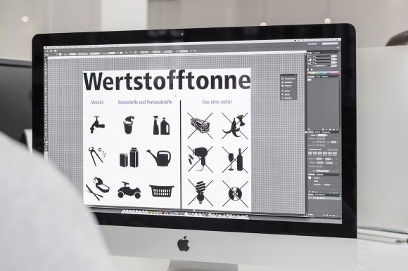 Grafikdesign, Die neue Wertstofftonne, Umweltbetrieb Bielefeld