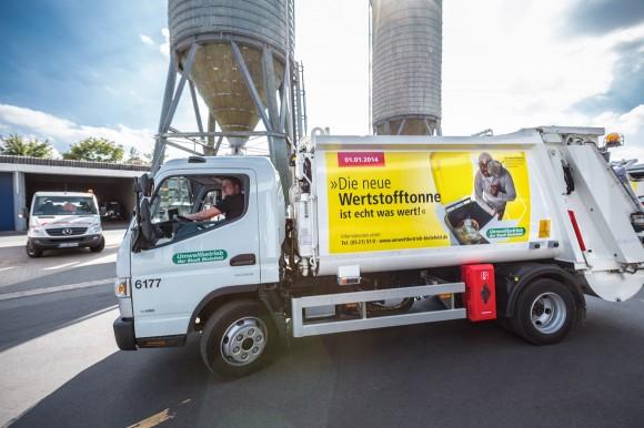 Müllwagen, Die neue Wertstofftonne, Umweltbetrieb Bielefeld