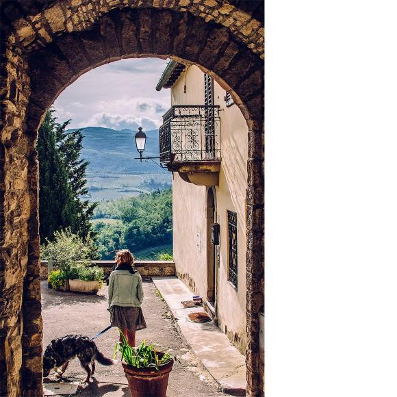 Aussicht Montefioralle, Toskana