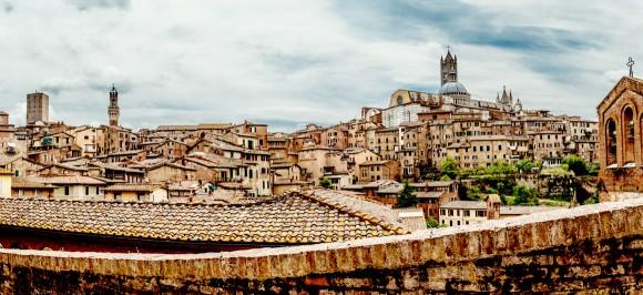 Dächer von Siena, Toskana