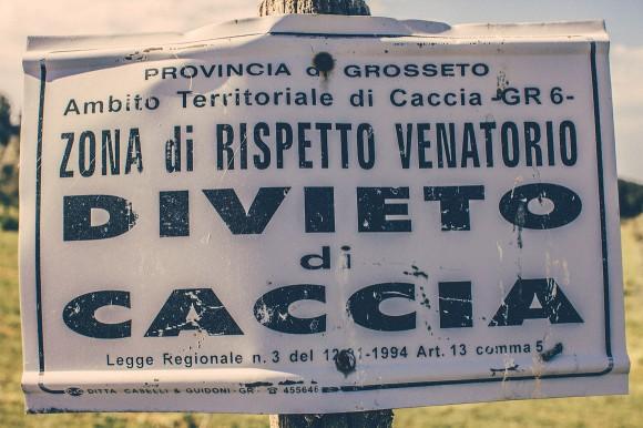Italien Strassenschild
