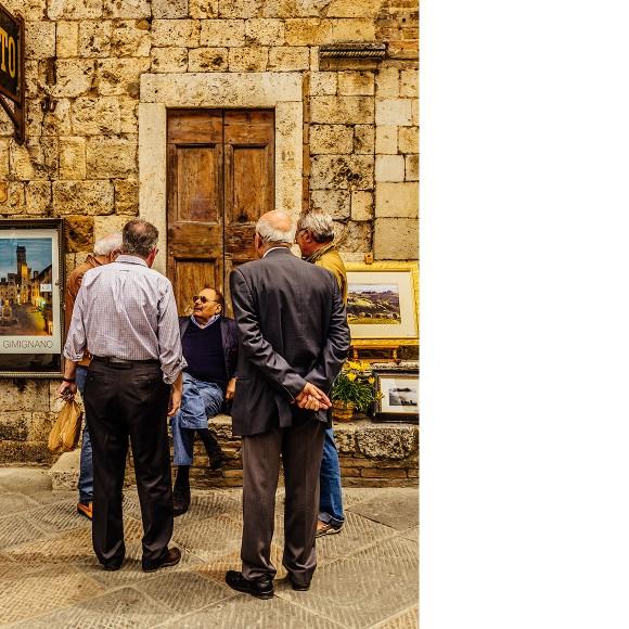 Männer in San Gimignano