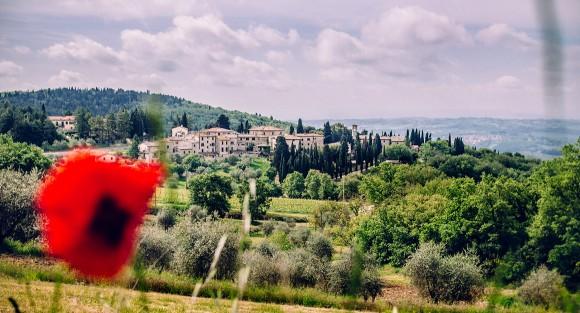 Dorf in der Toskana, Italien