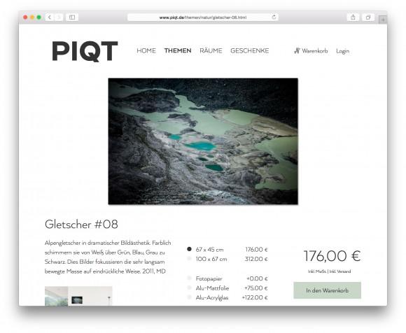 Fotokunst Gletscher www.piqt.de