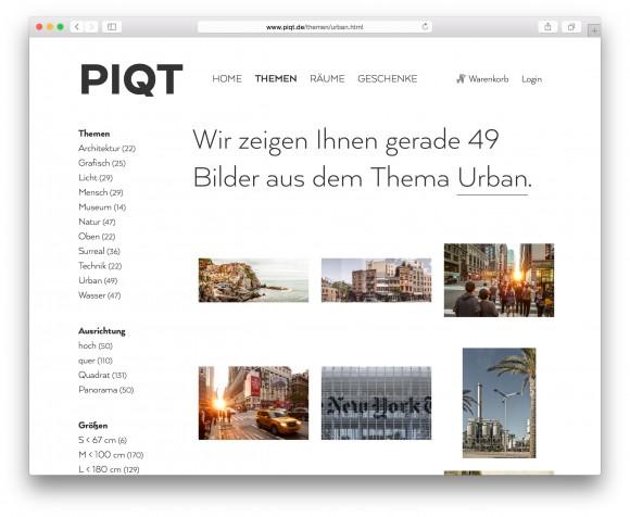 Fotokunst Onlineshop: www.piqt.de