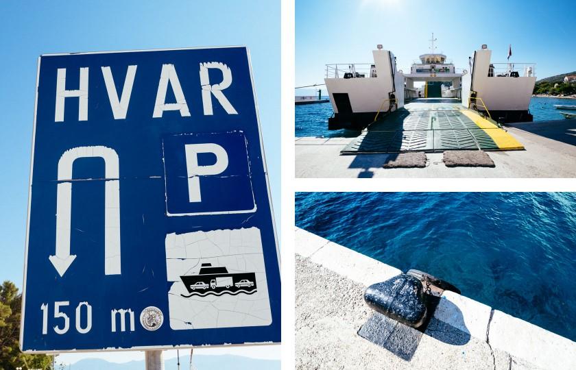 Wir nehmen die günstige Fähre von Drvenik nach Sucuraj. Es passen ca. 30 Autos auf ein Schiff.