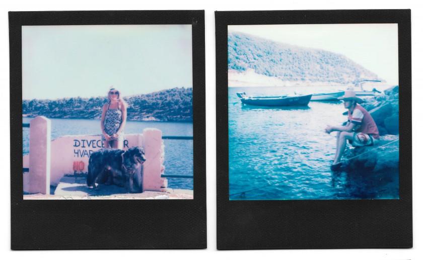Zwei meiner Polaroids. Film: Impossible Color Black Frame, Kamera: SX-70 Land Camera