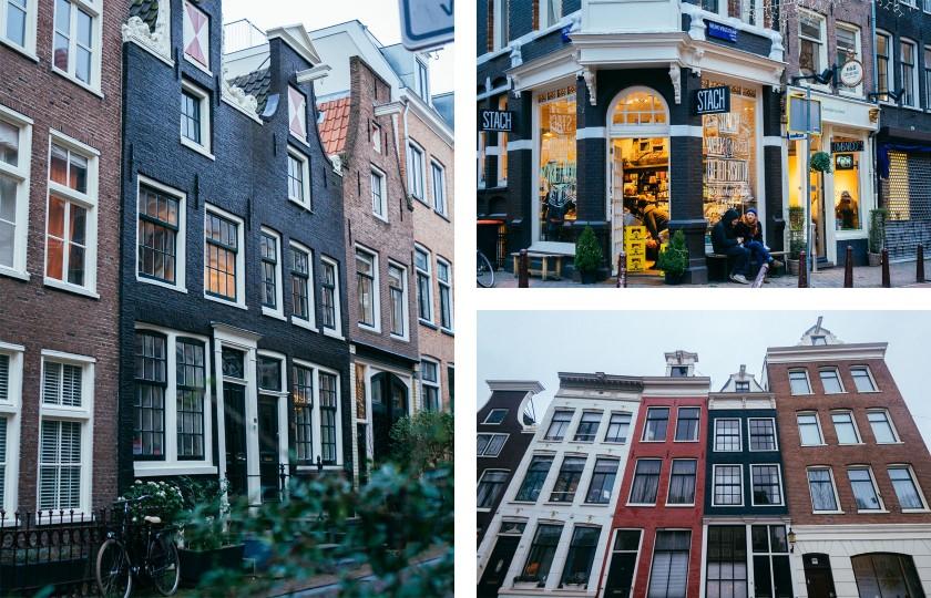 In der Innenstadt von Amsterdam steht ein Haus an dem anderen.