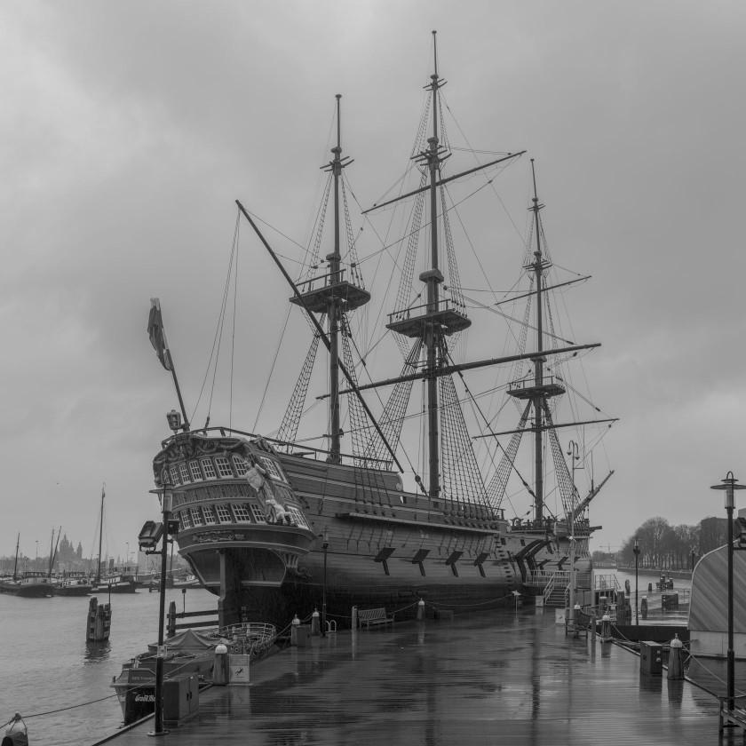 """Das Museumsschiff """"Amsterdam"""": Wir können in jeden Zentimeter kriechen und alles erkunden."""