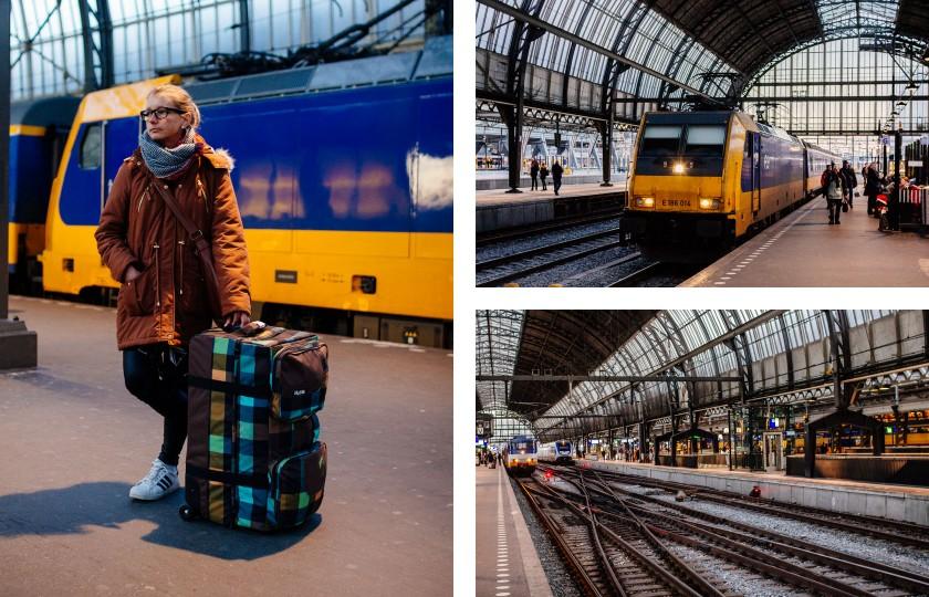 Amsterdam Central: Es geht wieder in die Heimat nach Bielefeld.