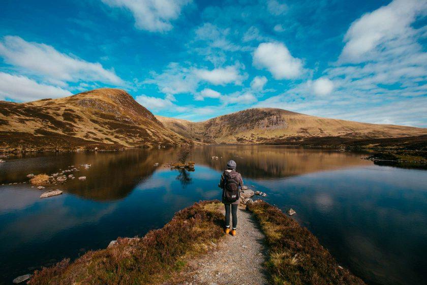 Das Ende unserer Wanderung endet am Loch Skeen.