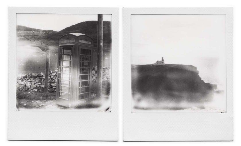 Polaroid Schottland – SX 70 schwarz-weiß
