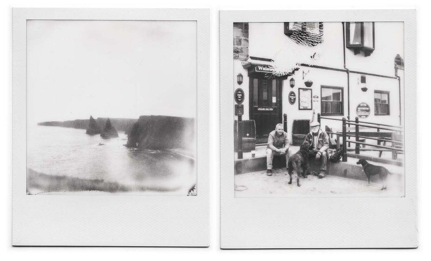 Polaroid SX 70, schwarz-weiß