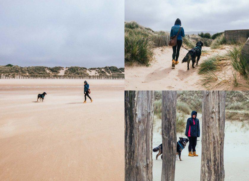 Ganz für uns alleine: ein 200 Meter breiter Sandstrand an der Küste von Calais.