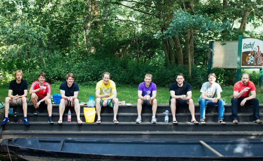 Kanutour Spreewald Mannschaft