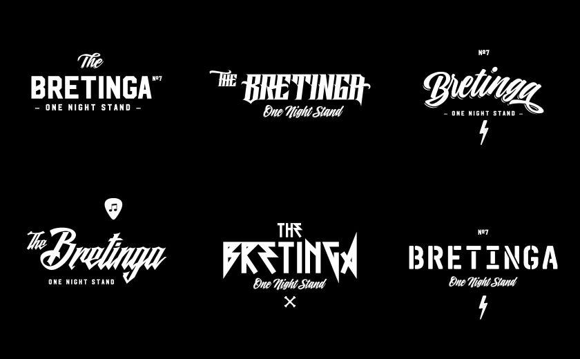 Logo Entwürfe für das Bretinga Festival in Breitungen/Werra.