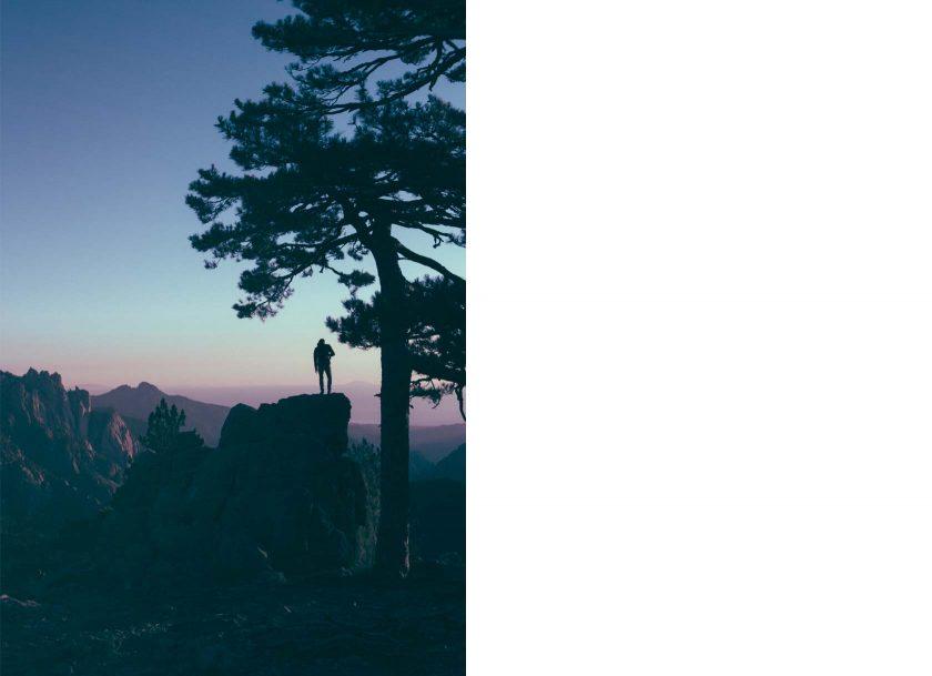 Sonnenaufgang am Col de Bavella auf der Insel Korsika