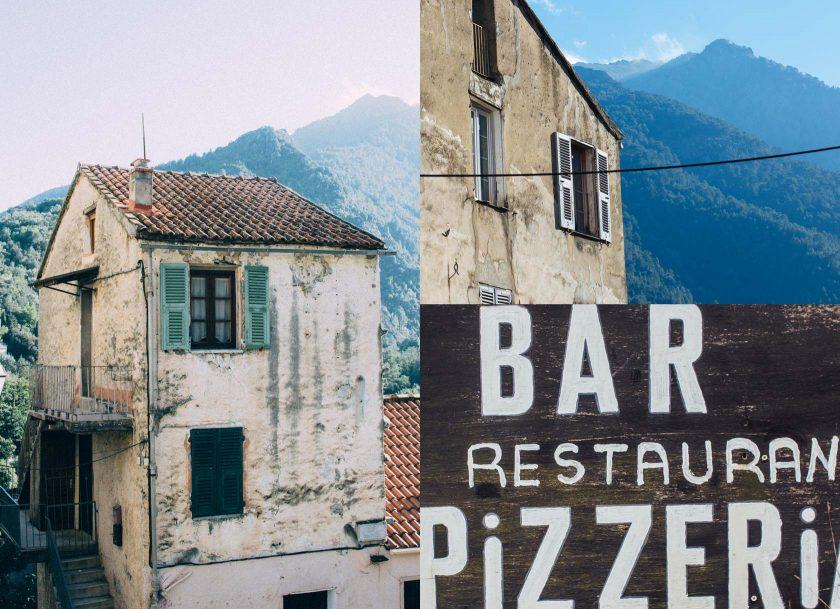 Stadt Corte Korsika