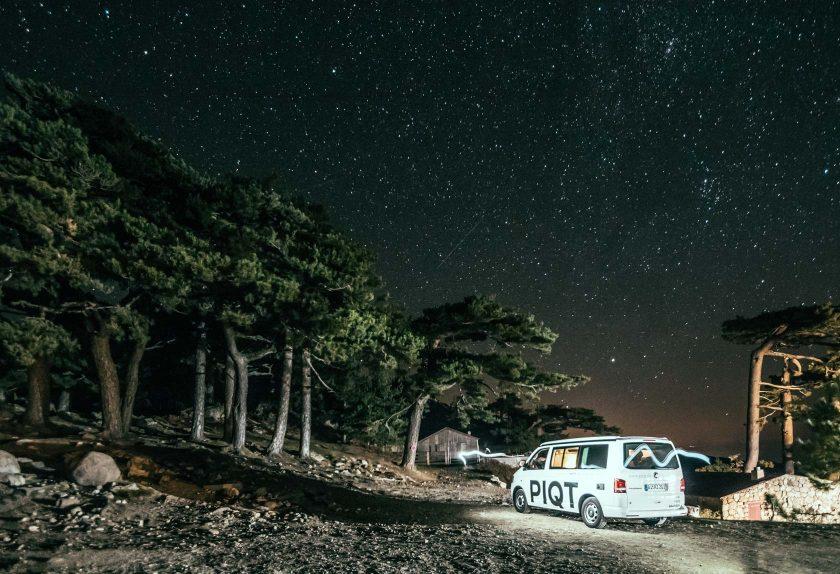 Nachthimmel am Col de Bavella auf Korsika