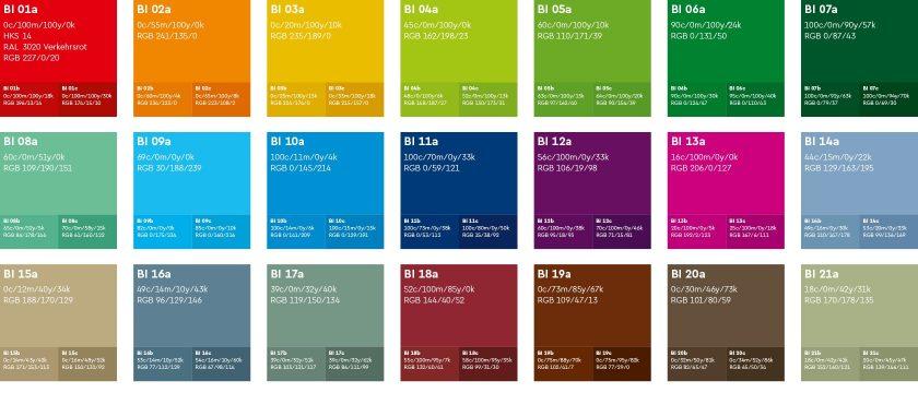 Corporate Design Bielefeld: Das Farbsystem