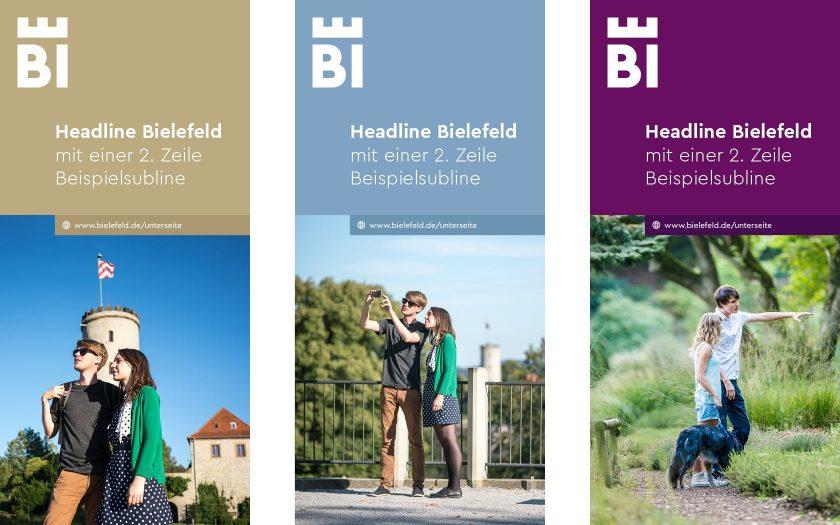 Corporate Design Bielefeld – Gestaltungsprinzip für Flyer