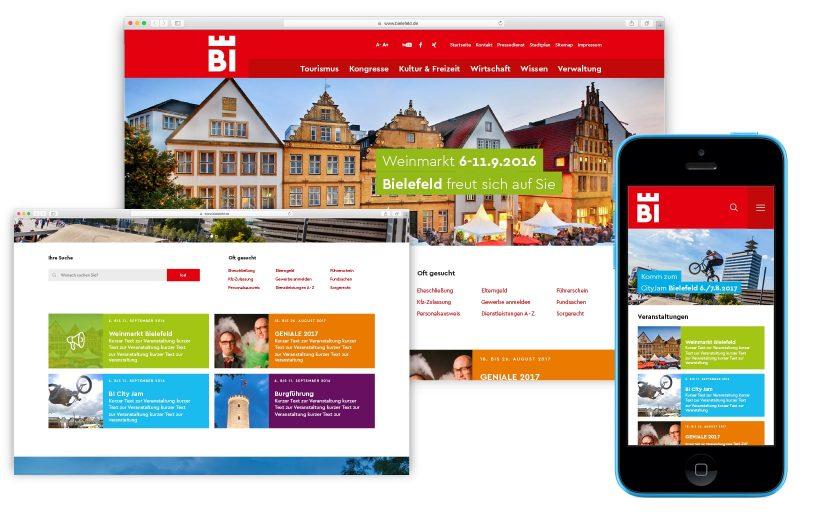 So könnte eine neue Webseite für Bielefeld aussehen.