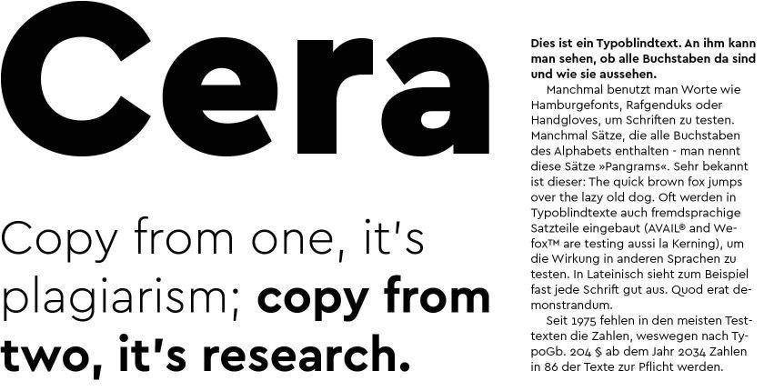 Eine moderne Schrift für eine tolle Stadt: Die Cera Bielefeld, entworfen von Jakob Runge.