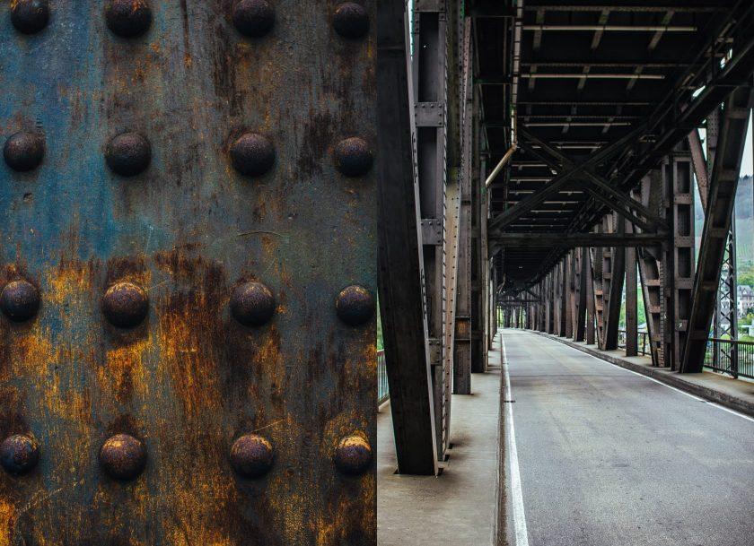 Details der Doppelstockbrücke in Bullay an der Mosel