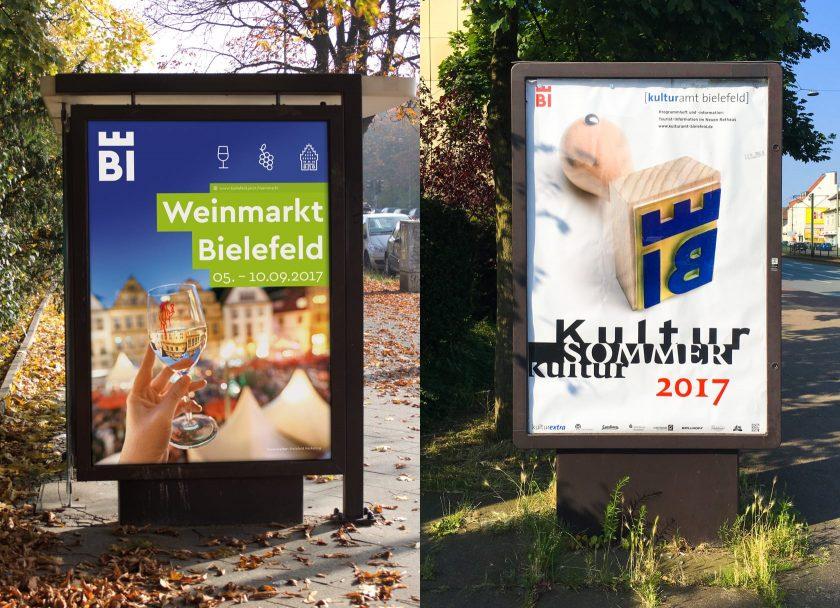 Weinmarkt 2017 und Kultursommer 2017 Plakate