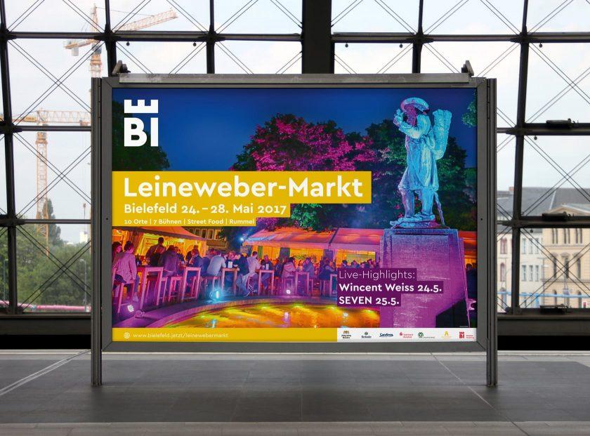 Leineweber-Markt Bielefeld 2017 18/1 Plakat, Gestaltung: deteringdesign GmbH