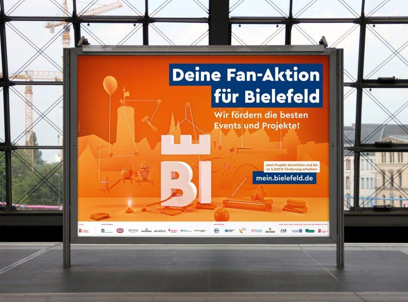 18/1 Großflächenplakate Fan-Aktion für Bielefeld