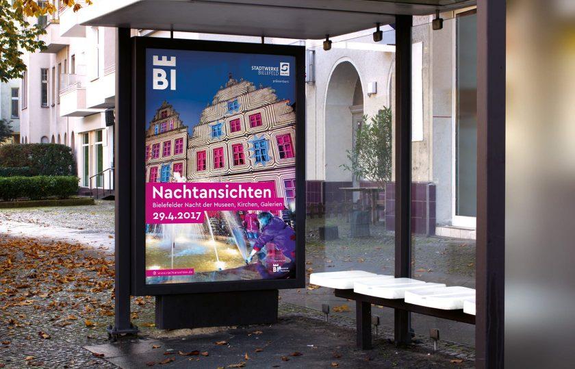 Nachtansichten Bielefeld Plakat 2017