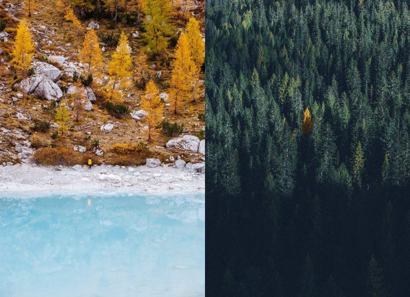 Tolle Herbststimmung am Lago di Sorapiss.