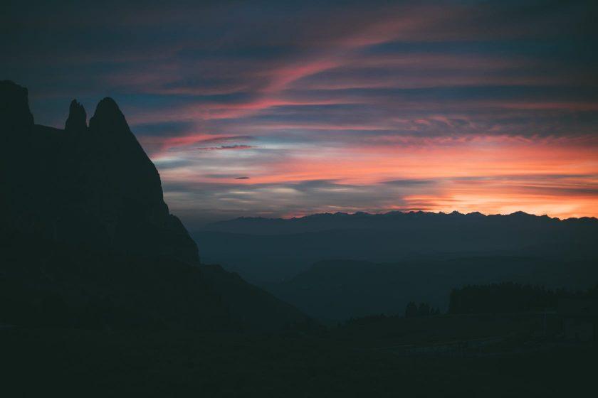Ein bisschen Kitsch darf auch sein: Ein Sonnenuntergang in Südtirol.