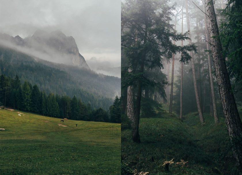 Tuffalm bei Völs am Schlern, Süd Tirol