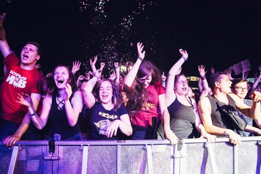 Tolle Stimmung bei der Band Schmutzki am Samstagabend.