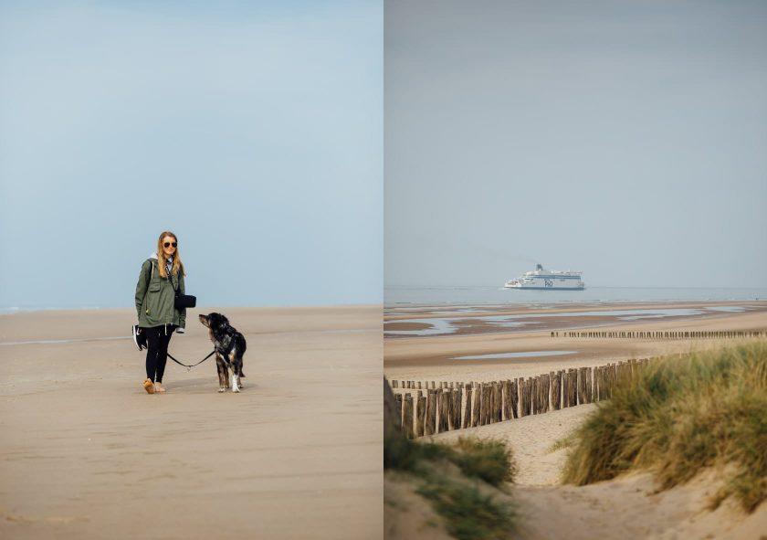 Strand Sangatte, Calais, Frankreich
