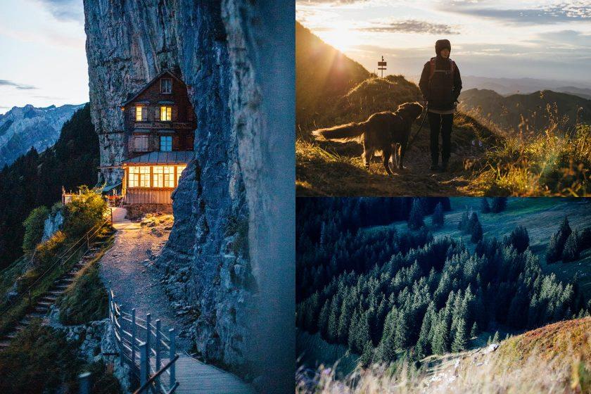 Impressionen von unserer Wanderung. Link das Gasthaus Aescher-Wildkirchli.